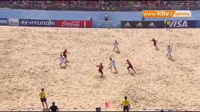 خلاصه فوتبال ساحلی: پرتغال ۷-۳ سوئیس
