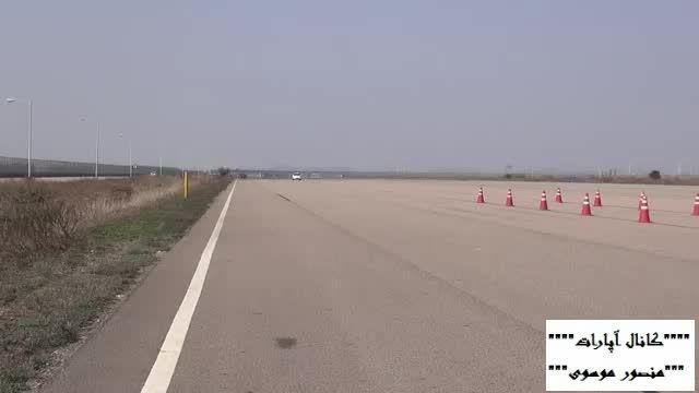 تست ترمز تیوولی در جاده خشک