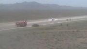 فرود بدون چرخ هواپیمای آموزشی درفرودگاه نظامی قم