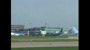 آتیش گرفتن موتور هواپیما به دلیل رفتن پرنده درون موتور!!!!!!