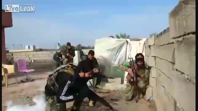 با نیروهای سپاه بدر (شیرمردان شیعه) در عراق