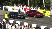 کلیپ درگ MB SL65 AMG Black Series vs BMW M6 and Porsche 9