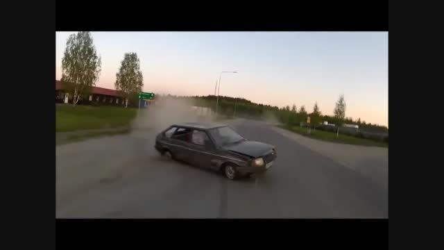 حرکات جالب با ماشین وصل به یدک کش