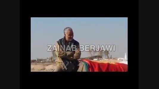 شادی پیروزی رزمندگان عراقی در حضور حاج قاسم سلیمانی