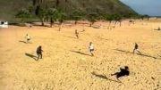 فوتبال ساحلی با رونالدو و رفقا