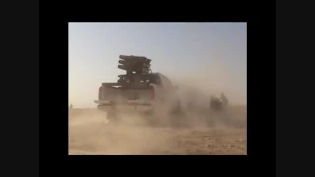 موشک باران تروریست های داعش توسط حشدالشعبی