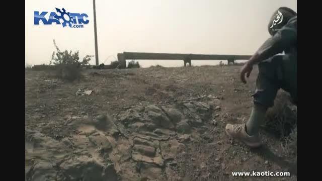 ترکیدن داعشی و قایم شدن زیر لوله اب
