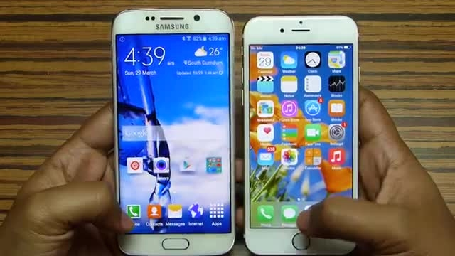Galaxy S6 Edge vs iPhone 6 - APPS SPEED TEST