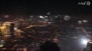 مراسم آتش بازی جشن سال نو میلادی در مانیل فیلیپین
