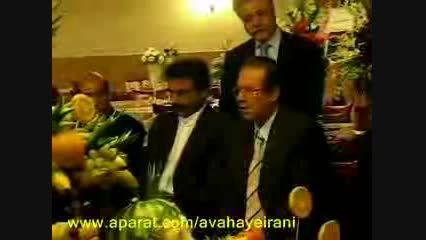 آواز علیرضا افتخاری و علی رستمیان در یک مراسم عروسی