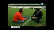گفتگوی رامبد جوان و عادل فردوسی پور در ورزشگاه آزادی