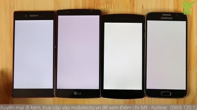 Xperia Z3+ vs LG G4 vs Galaxy S6_Display Comparison