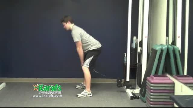 حرکت باسن، کشش کابل از بین پاها