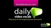 کلمات انگلیسی روزانه اپیسود 4