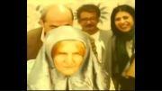 پیرزن شدن محسن تنابنده در سریال ابله