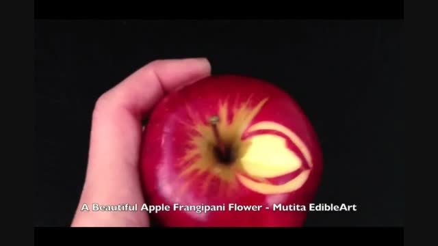آموزش تزیین سیب به زبان فارسی