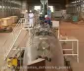 خط تولید و تحویل زیردریایی غدیر