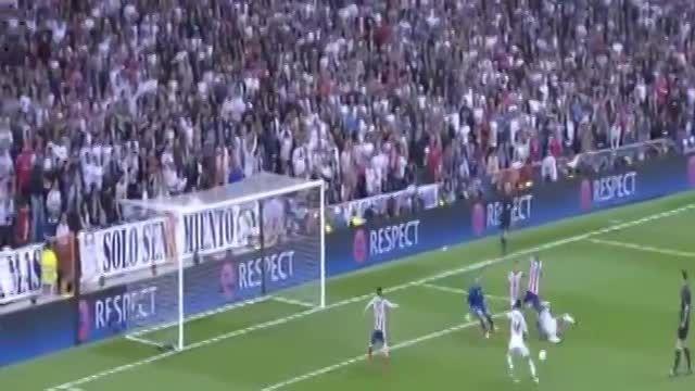 تک گل دیدار رئال مادرید 1 - 0 اتلتیکو مادرید (1/4 UCL)