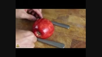 اموزش تزئین سیب به شکل های مختلف