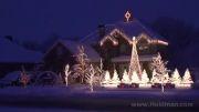 رقص نور بسیار زیبا و هماهنگ در کریسمس