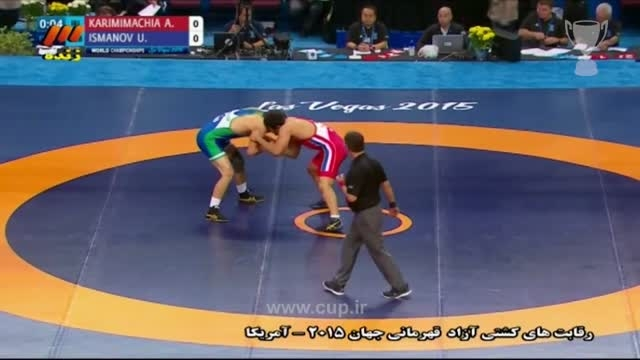 کشتی آزاد قهرمانی جهان؛ایران(کریمی11)-ازبکستان(ایسمانف0