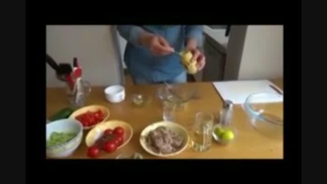 طرز تهیه سالاد تن ماهی