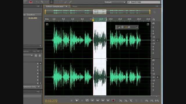 کم وزیاد کردن شدت صدا در Adobe Audition