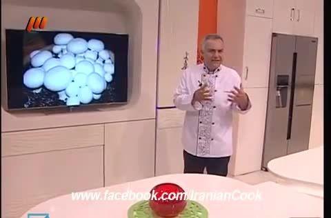 پیتزاى قارچ و تخم مرغ بیانكو