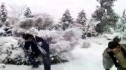 اولین برف سال 1392 در تهران (خیلی باحاله)