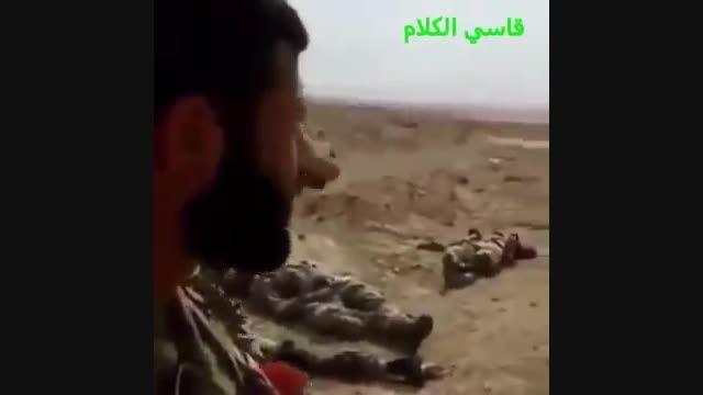 بیجی - اجساد صدها داعشی زیر پای بسیج مردمی عراق