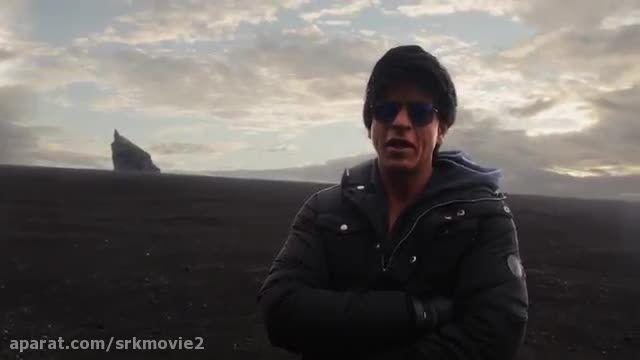 شاهرخ خان در پشت صحنه موزیک ویدیو گروا دلواله 2015