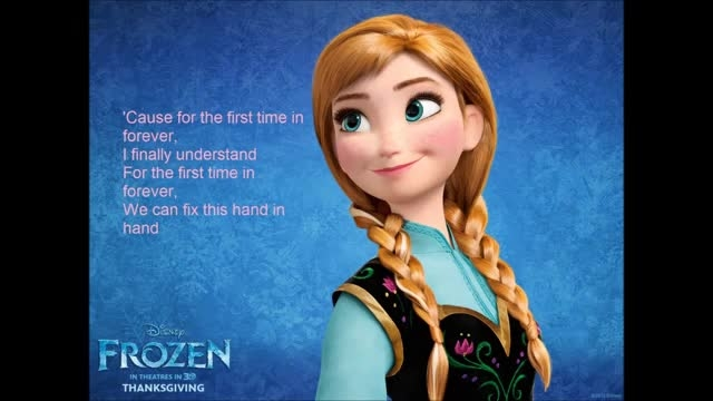 Frozen for the First Time in Forever Reprise Lyric
