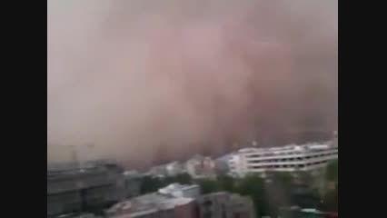 طوفان مهیب گرد و خاک در تهران