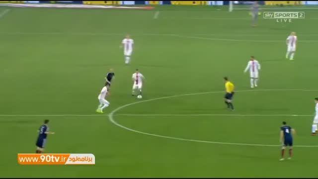 گلهای بازی: اسکاتلند ۲-۲ لهستان (۲ گل لواندوفسکی)