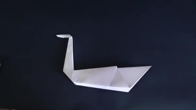 درست کردن قو به کمک کاغذ