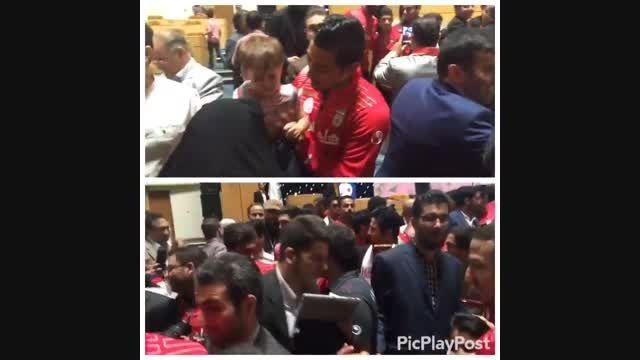 مراسم بدرقه بازیکنان تیم ملی فوتبال به تاشکند