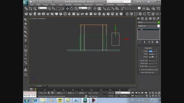 آموزش 3DMAX فارسی ۲۷ طراحی یک غرفه ۷ طراحی شیشه ها