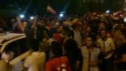 جشن قهرمانی هواداران فولاد خوزستان
