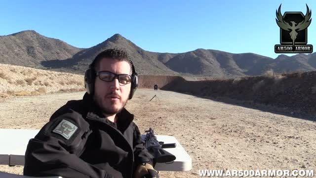 تست مقاومت زره جلیقه ضد گلوله از فاصله 18 متری