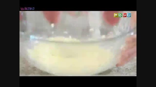 کیک سیب_آموزش پختن شیرینی+فیلم ویدیو کلیپ آشپزی