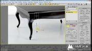 آموزش مدلسازی میز قهوه خوری در تری دی مکس