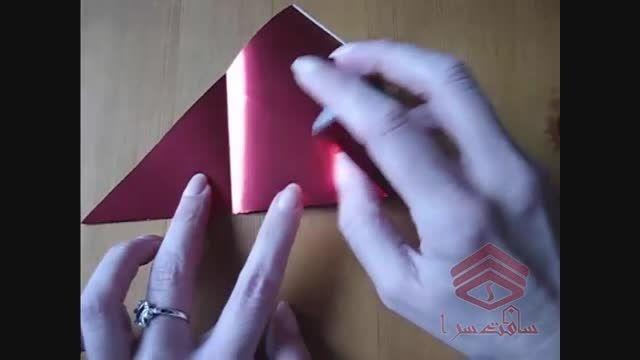 ساخت اریگامی بوسه (کارت تبریک ولنتاین)