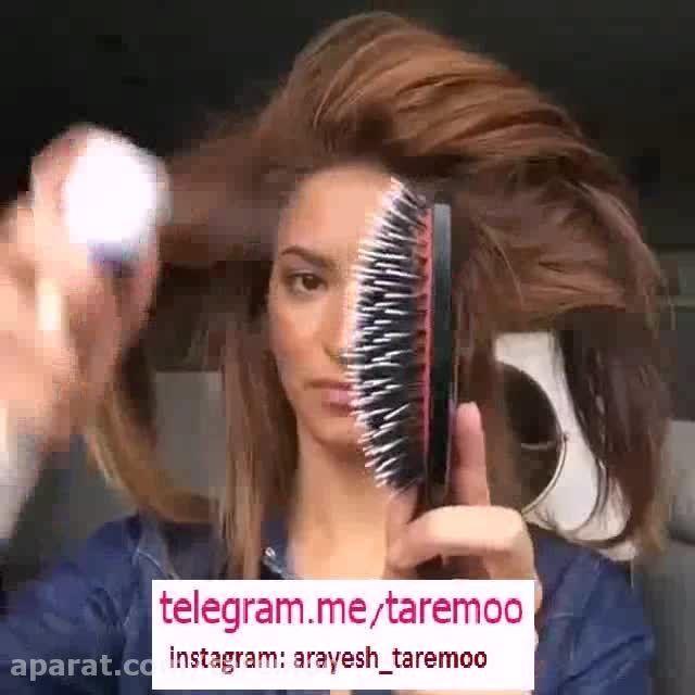 آموزش بستن مو دم اسبی زیبا در تار مو