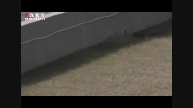 پرواز ماشین در مسابقه اتومبیلرانی!