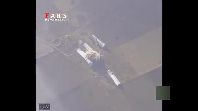 حمله جنگنده های روسی به مواضع داعش