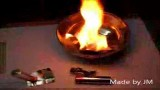 فراهم کردن آتش بااستفاده از دو باتری