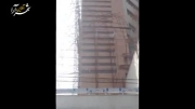 واژگونی داربست برج در مشهد