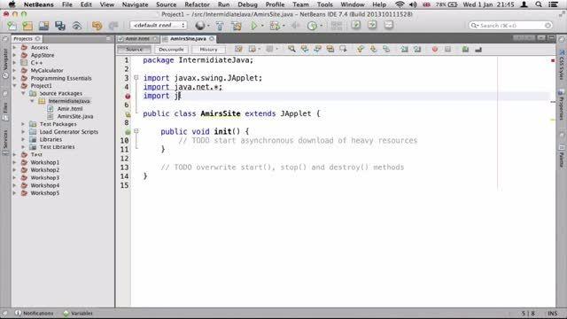 ۲۴- ساختن یک اپلت ساده برای شبکه در جاوا Java