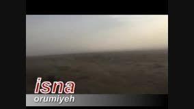 طوفان نمک در دریاچه اورمیه