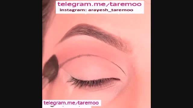 آرایش چشم با سایه برنز و خط چشم زیبا در تارمو